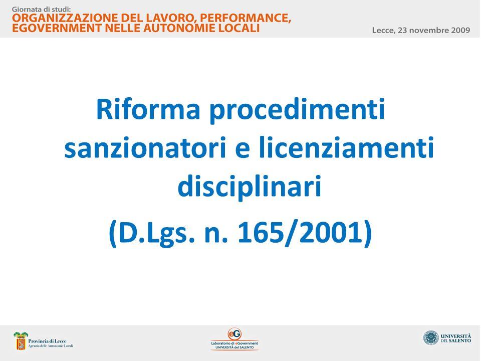 Riforma procedimenti sanzionatori e licenziamenti disciplinari (D. Lgs