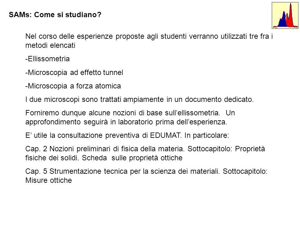 SAMs: Come si studiano Nel corso delle esperienze proposte agli studenti verranno utilizzati tre fra i metodi elencati.