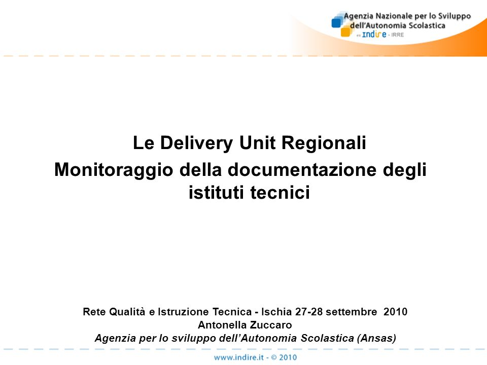 Le Delivery Unit Regionali