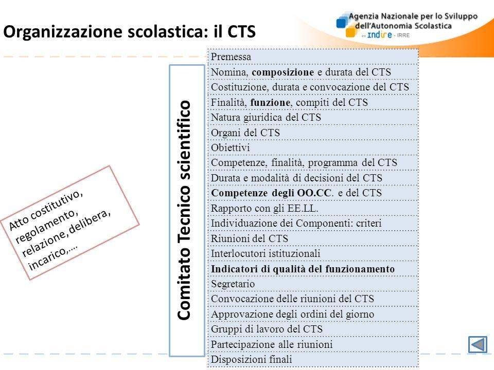 Organizzazione scolastica: il CTS