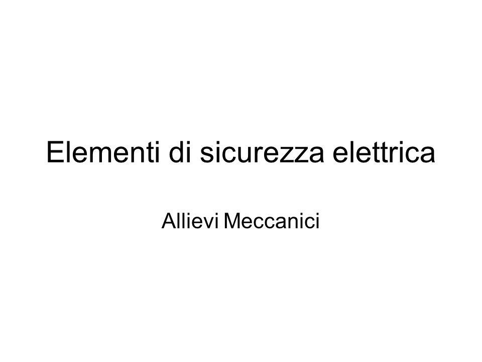 Elementi di sicurezza elettrica