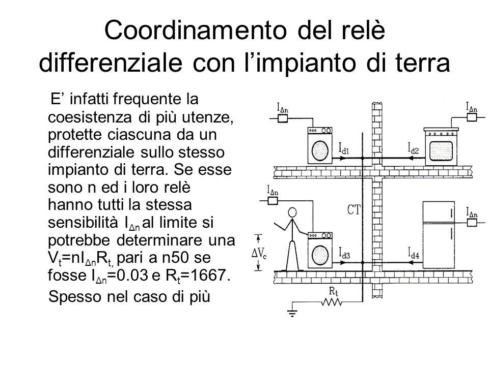 Coordinamento del relè differenziale con l'impianto di terra