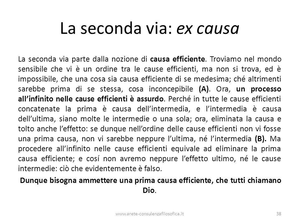 La seconda via: ex causa