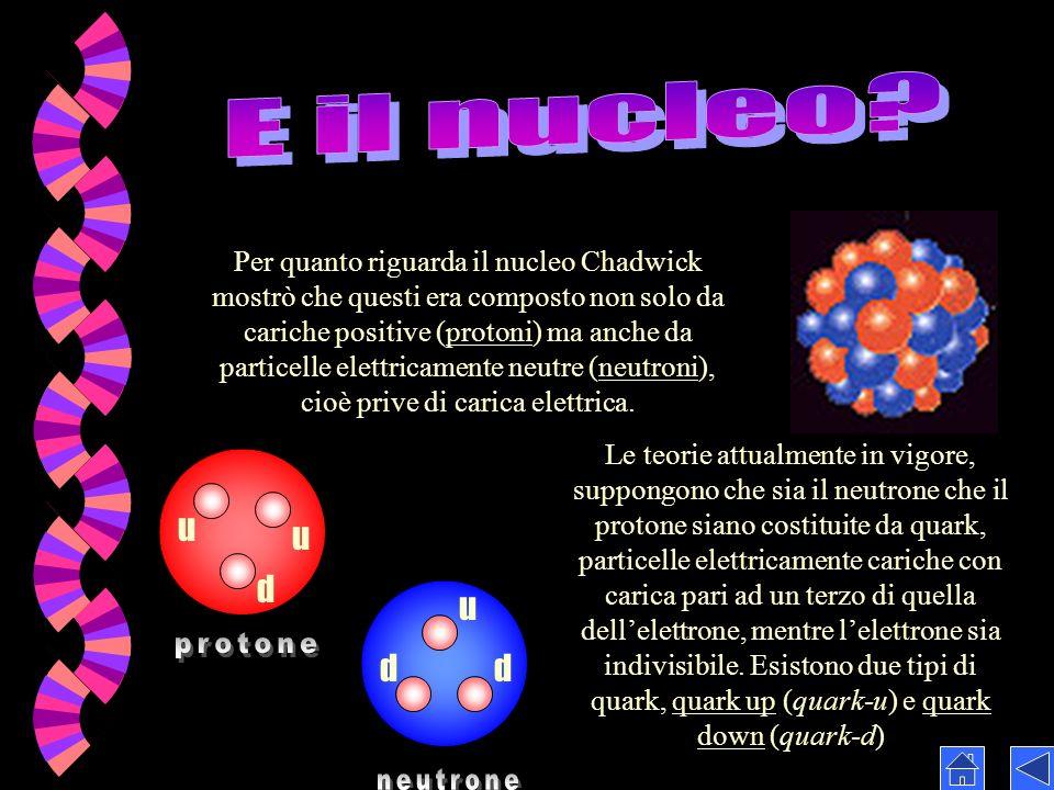 E il nucleo protone neutrone u u d u d d
