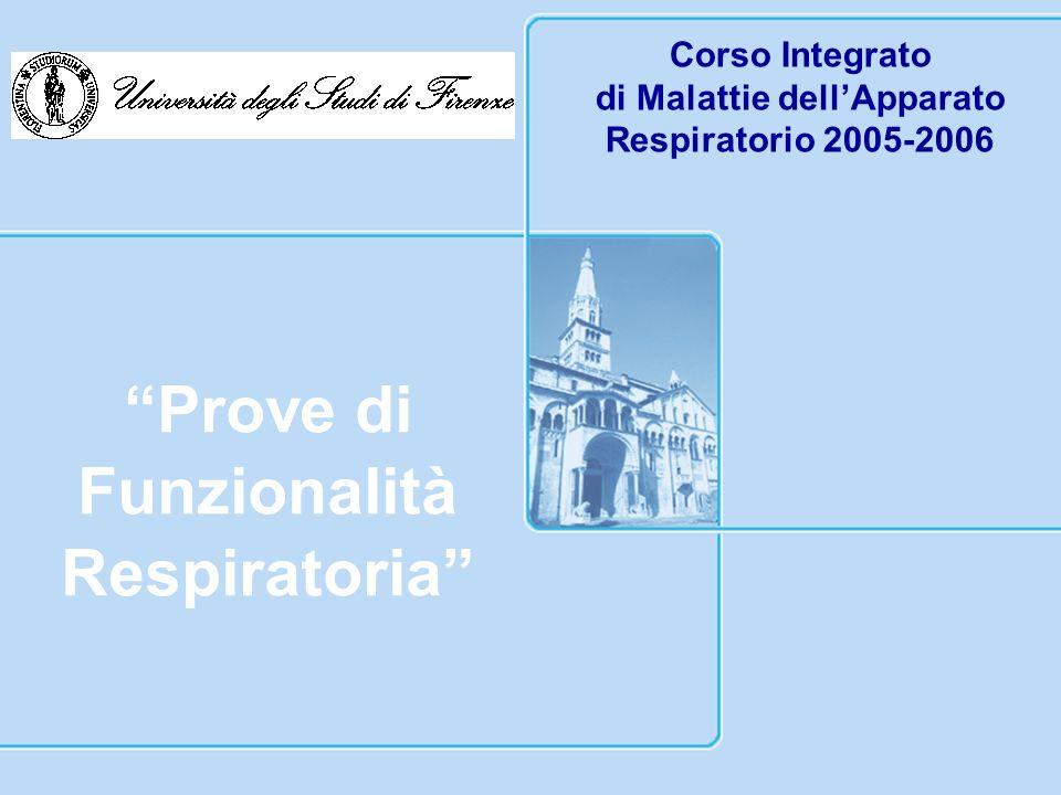 di Malattie dell'Apparato Respiratorio 2005-2006