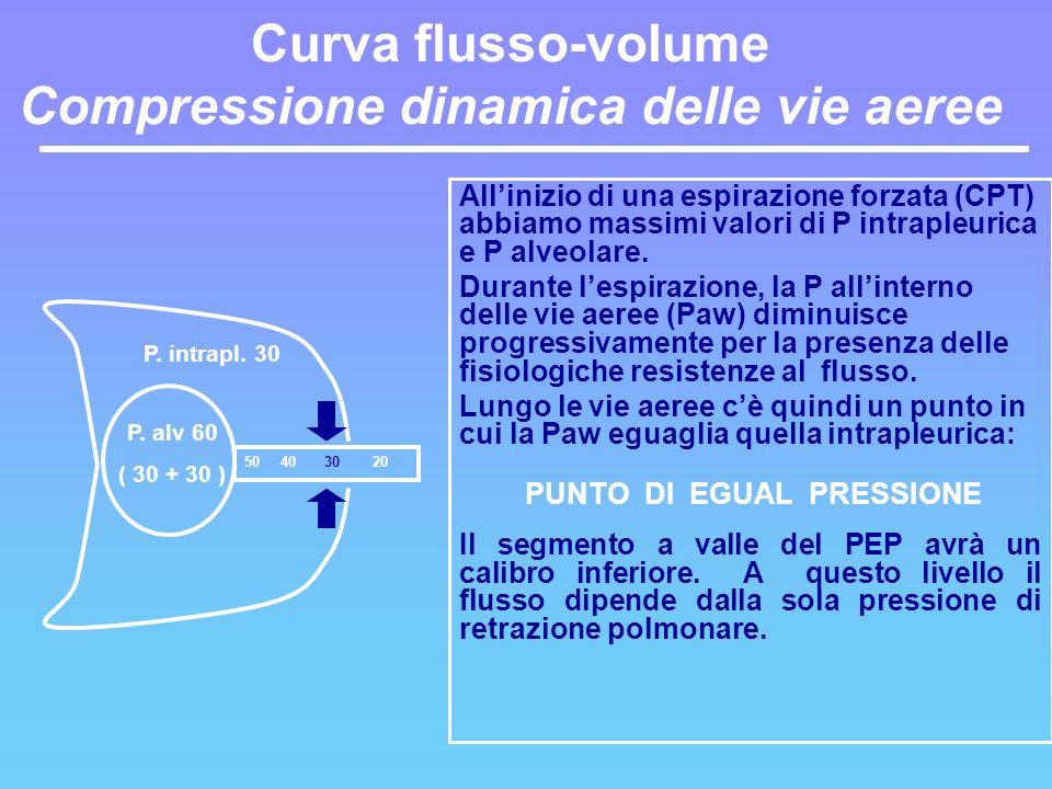 Curva flusso-volume Compressione dinamica delle vie aeree
