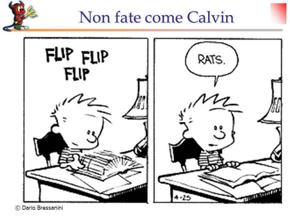 Non fate come Calvin © Dario Bressanini