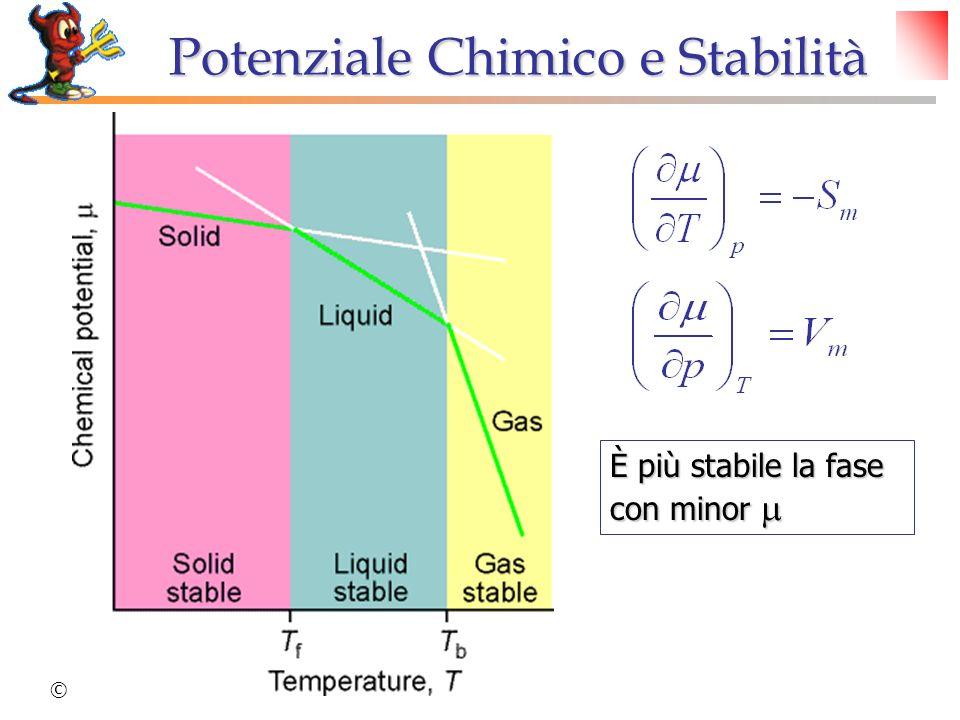 Potenziale Chimico e Stabilità