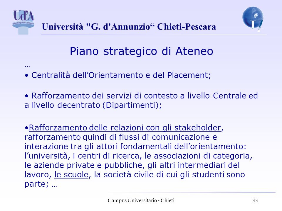 Piano strategico di Ateneo
