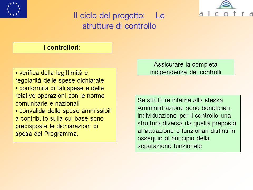 Il ciclo del progetto: Le strutture di controllo