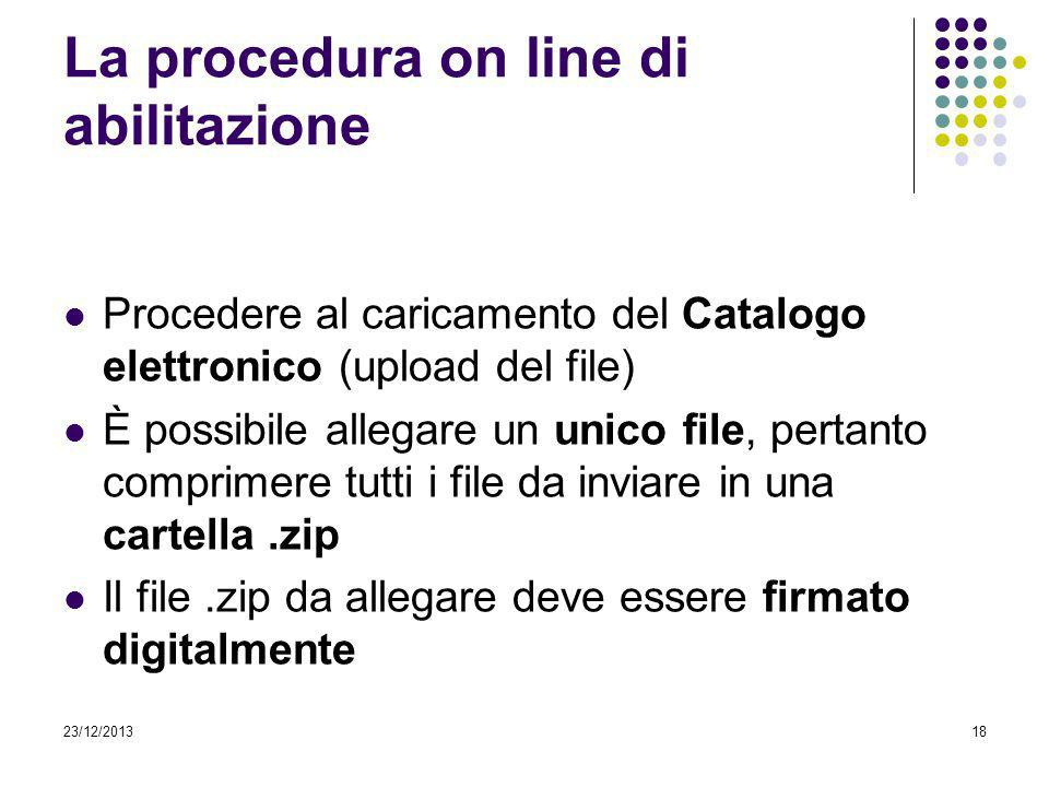La procedura on line di abilitazione
