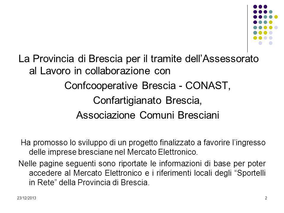 Confcooperative Brescia - CONAST, Confartigianato Brescia,