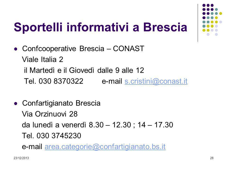 Sportelli informativi a Brescia