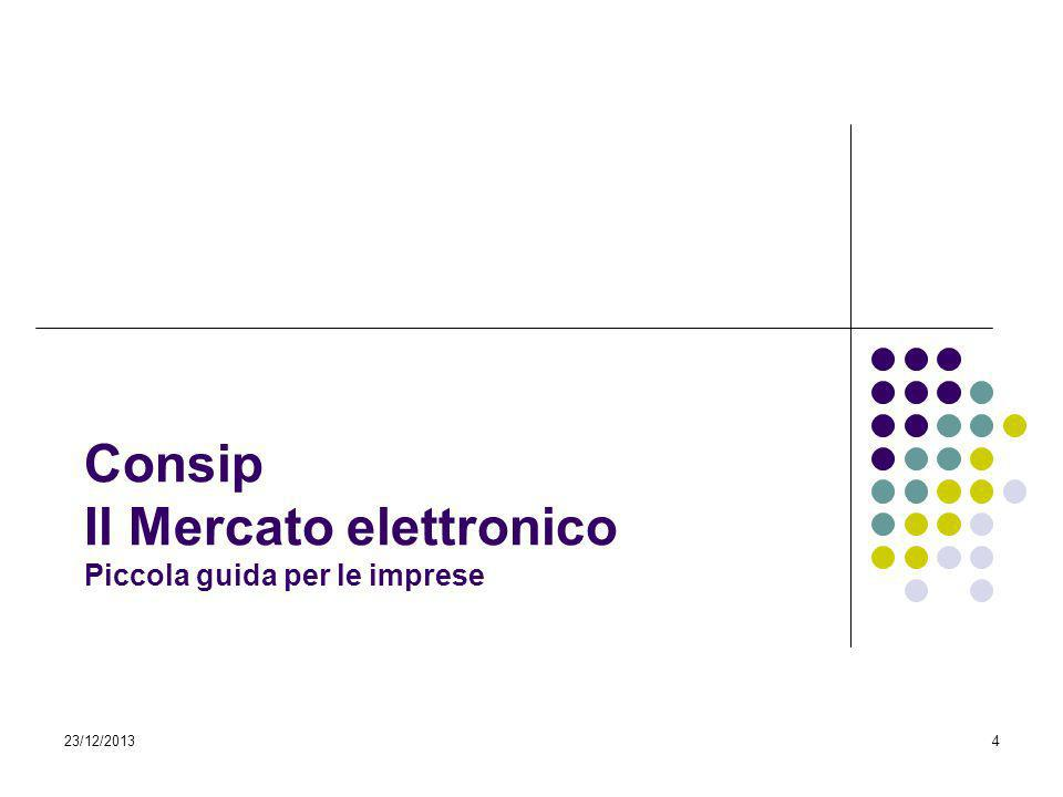 Consip Il Mercato elettronico Piccola guida per le imprese