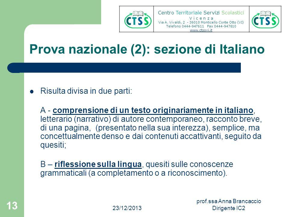 Prova nazionale (2): sezione di Italiano