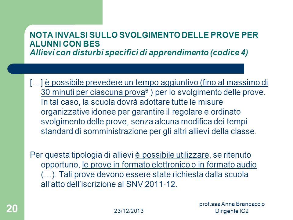 prof.ssa Anna Brancaccio Dirigente IC2