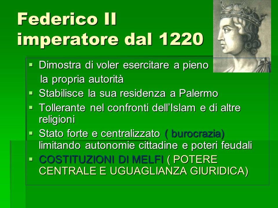 Federico II imperatore dal 1220