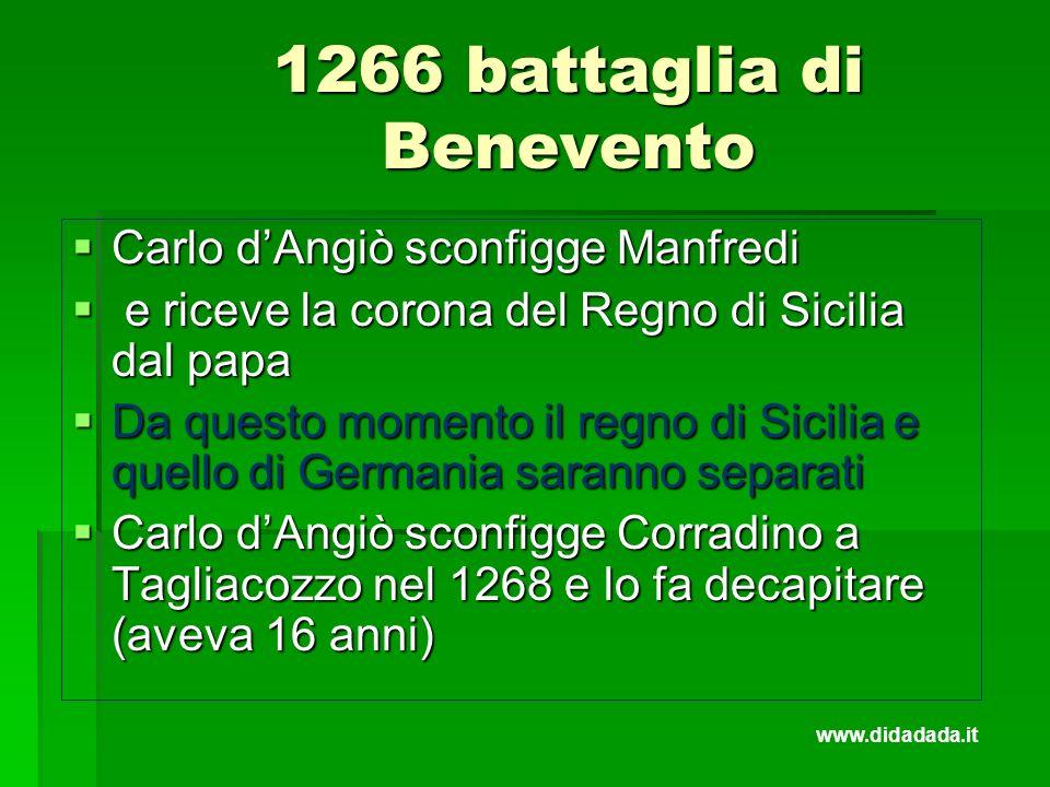 1266 battaglia di Benevento