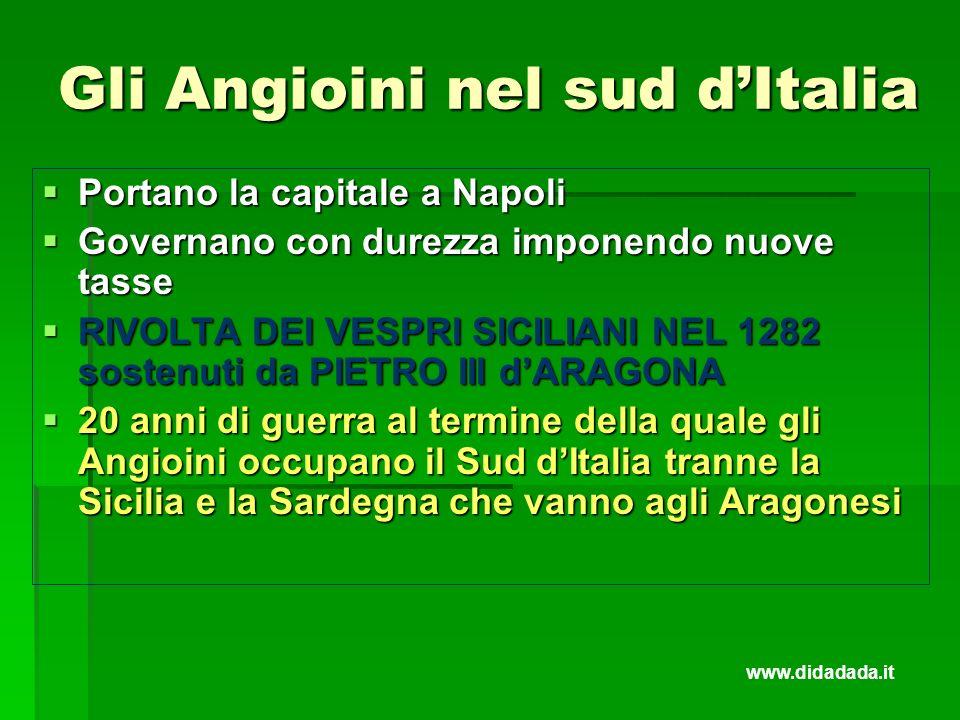 Gli Angioini nel sud d'Italia