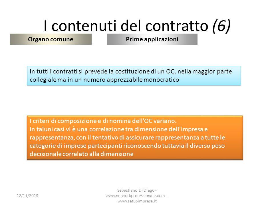 I contenuti del contratto (6)