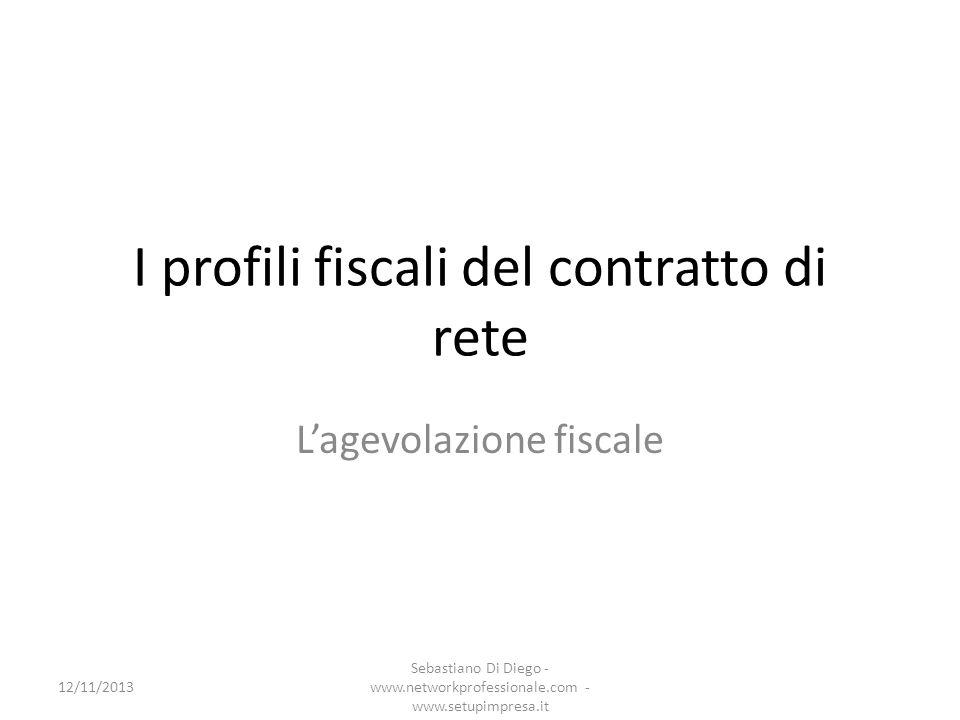 I profili fiscali del contratto di rete