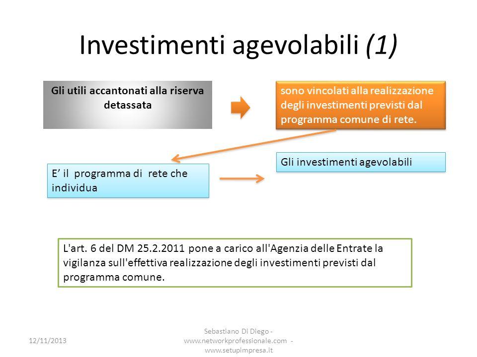 Investimenti agevolabili (1)