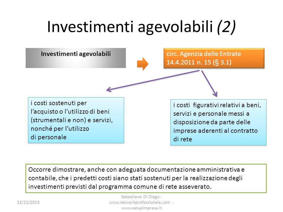 Investimenti agevolabili (2)
