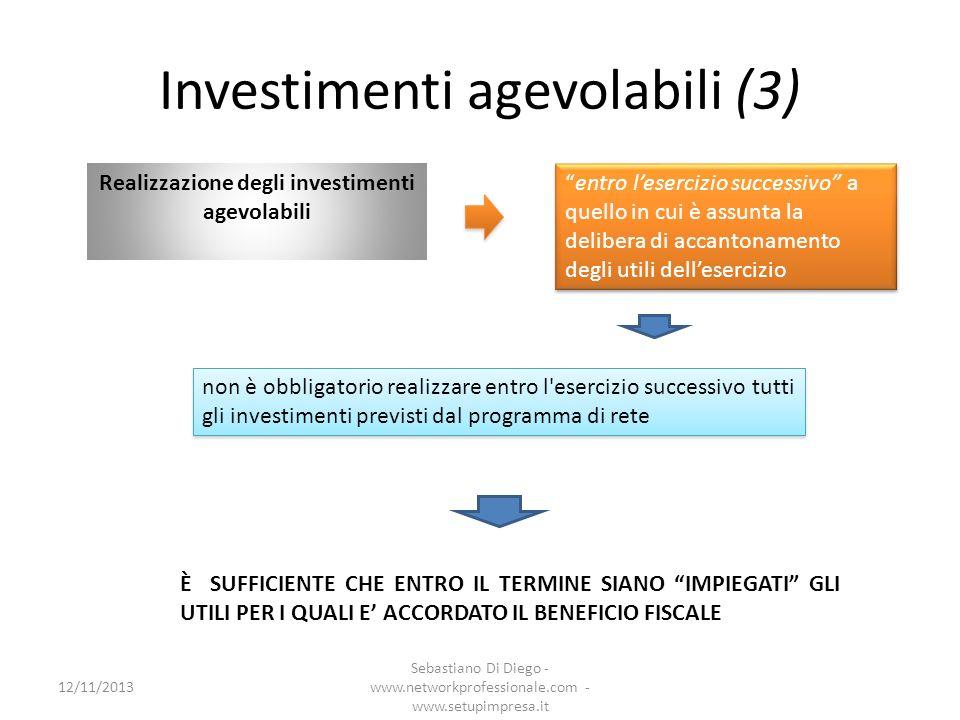 Investimenti agevolabili (3)