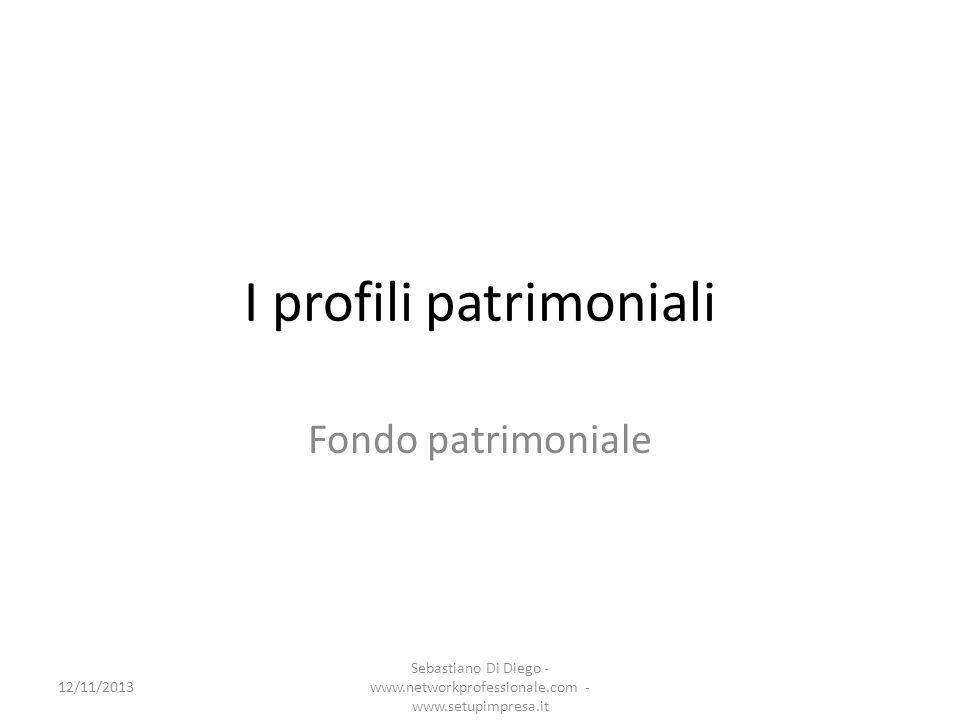 I profili patrimoniali