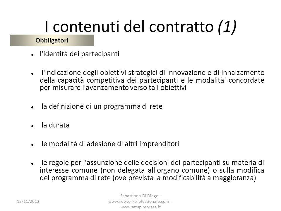 I contenuti del contratto (1)