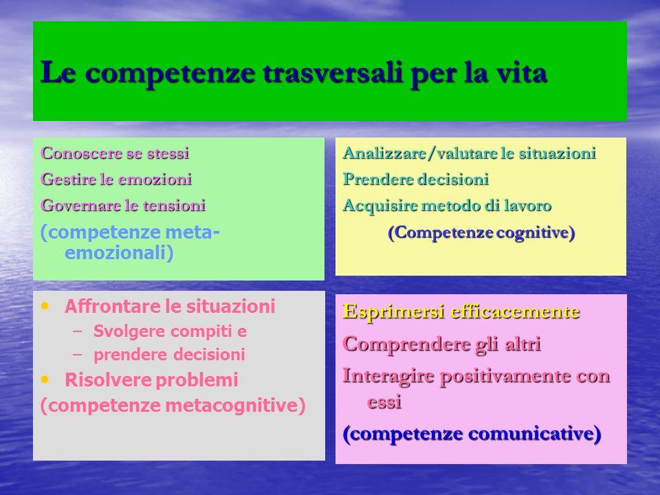 Le competenze trasversali per la vita