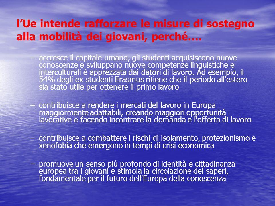l'Ue intende rafforzare le misure di sostegno alla mobilità dei giovani, perché….