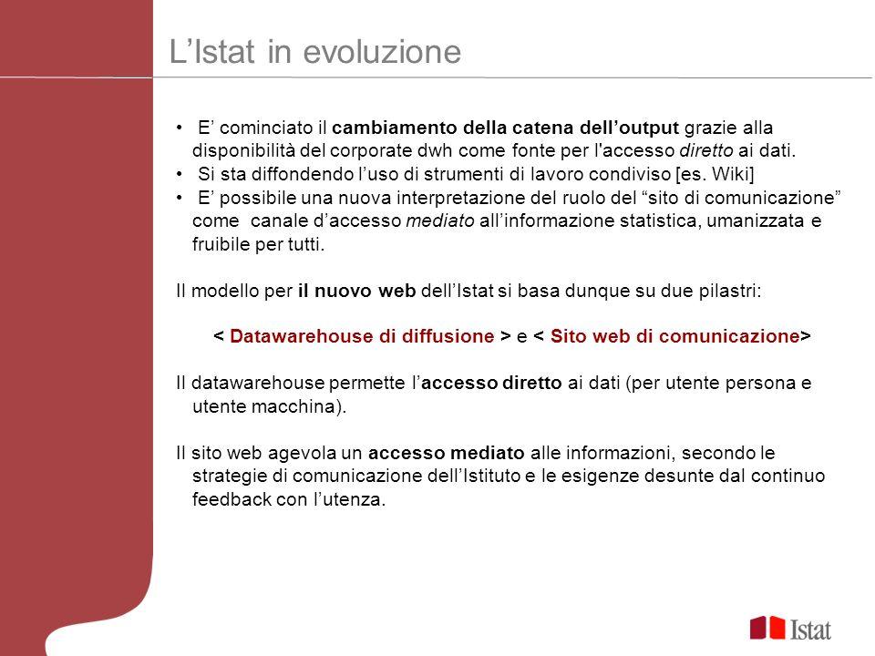 L'Istat in evoluzione