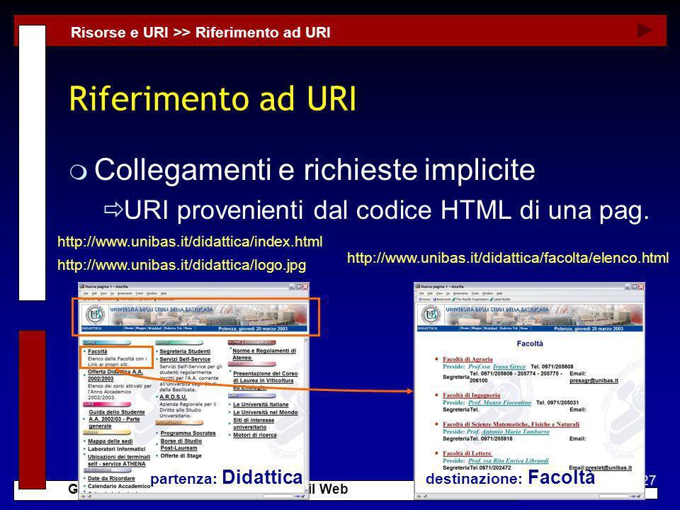 Riferimento ad URI Collegamenti e richieste implicite