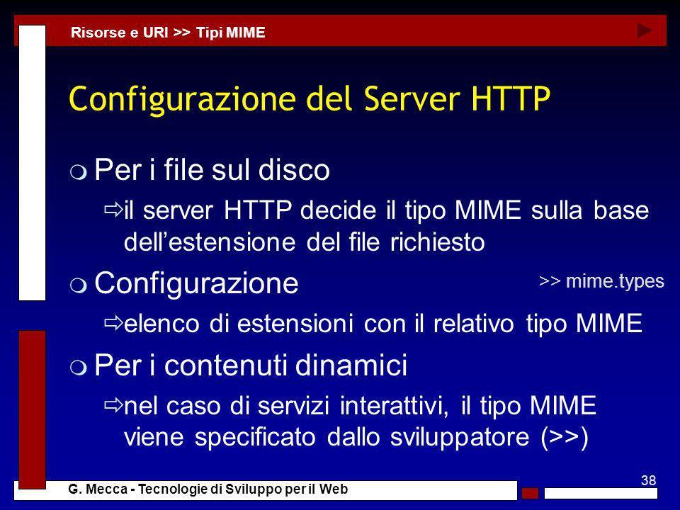 Configurazione del Server HTTP