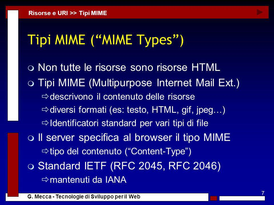 Tipi MIME ( MIME Types )