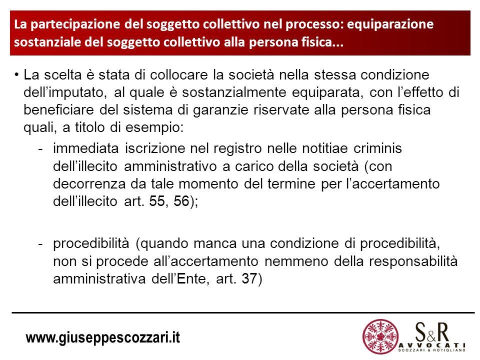 La partecipazione del soggetto collettivo nel processo: equiparazione sostanziale del soggetto collettivo alla persona fisica...
