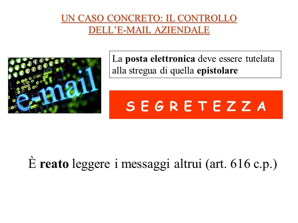 UN CASO CONCRETO: IL CONTROLLO DELL'E-MAIL AZIENDALE