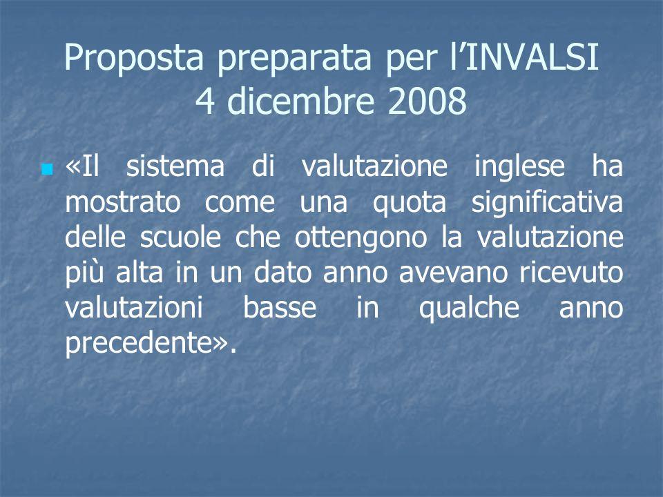 Proposta preparata per l'INVALSI 4 dicembre 2008