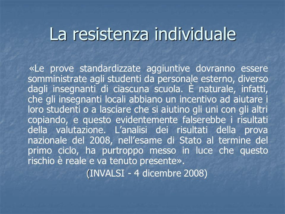 La resistenza individuale