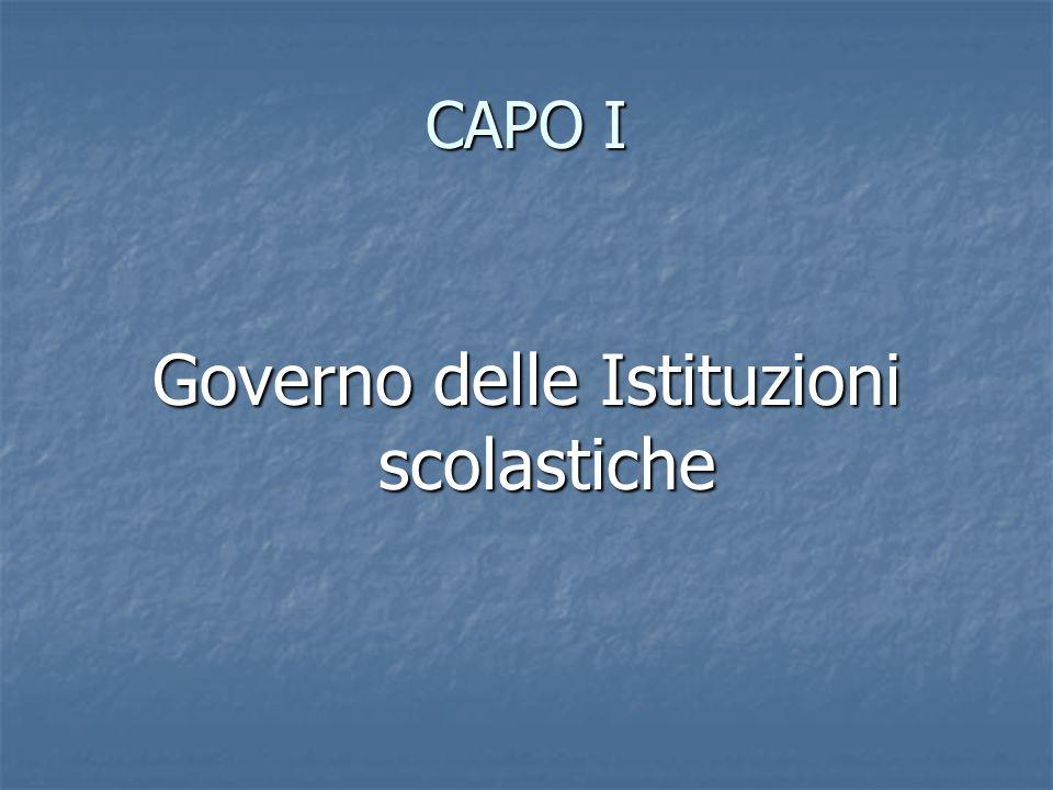 Governo delle Istituzioni scolastiche