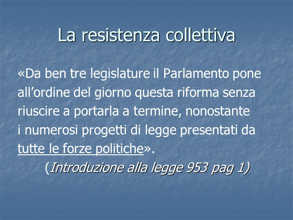 La resistenza collettiva
