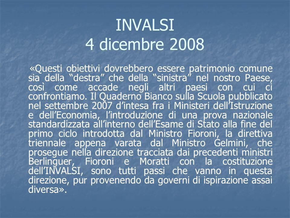 INVALSI 4 dicembre 2008