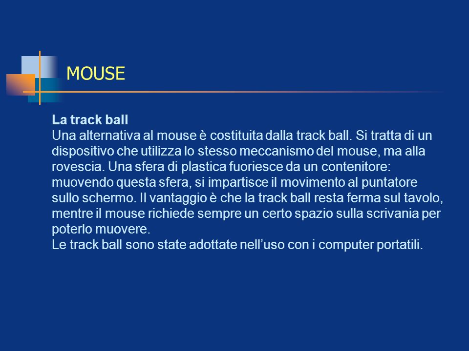 MOUSELa track ball