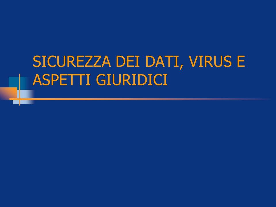 SICUREZZA DEI DATI, VIRUS E ASPETTI GIURIDICI