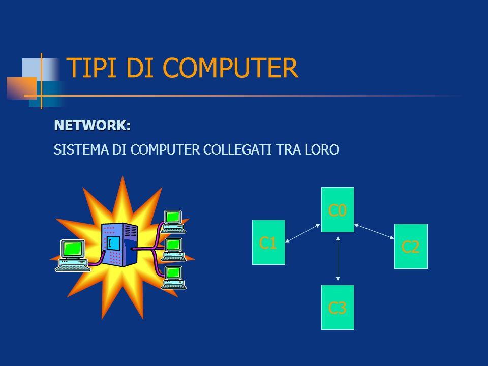 TIPI DI COMPUTER C0 C1 C2 C3 NETWORK: