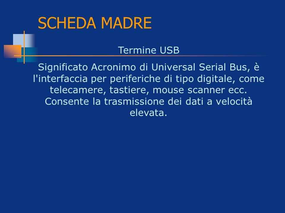 SCHEDA MADRE Termine USB