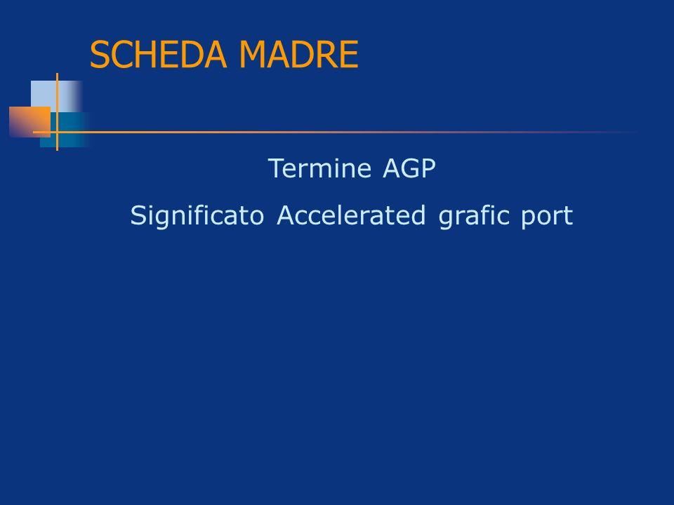 Significato Accelerated grafic port