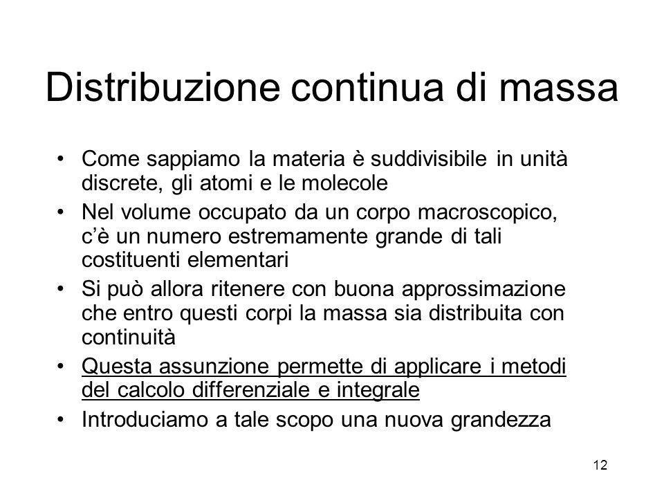 Distribuzione continua di massa