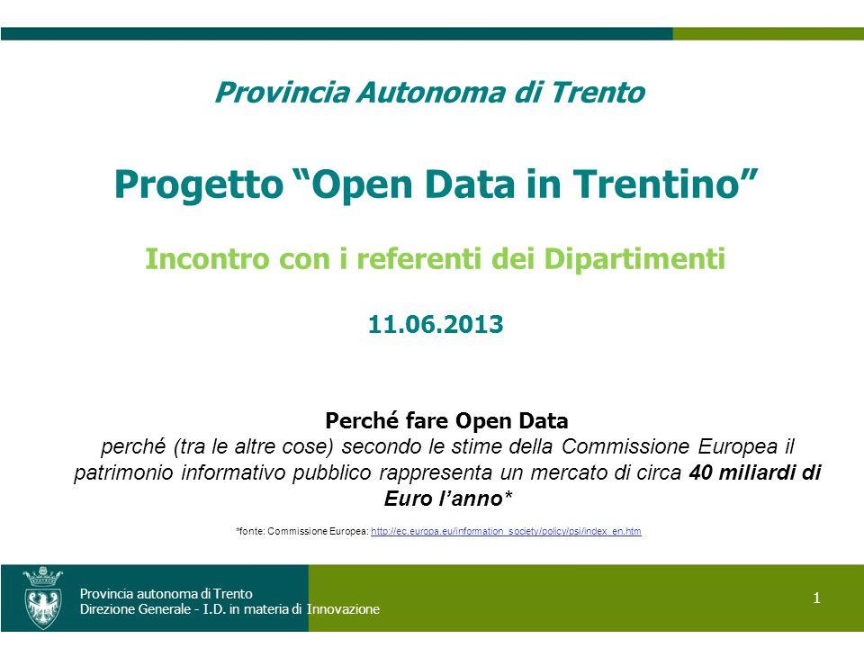 Progetto Open Data in Trentino